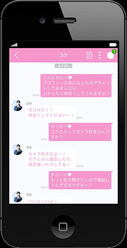 メッセージのやりとりのイメージ画像